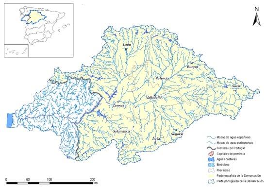 Cuenca Del Duero Mapa.La Cuenca Del Duero Chduero